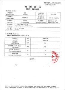 Certifikat za A193 B8M CL2
