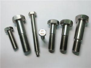 Br.25-inkolonski a286 šesterokutni vijci 1.4980 a286 pričvršćivači gh2132 pričvršćeni vijčani strojevi od nehrđajućeg čelika