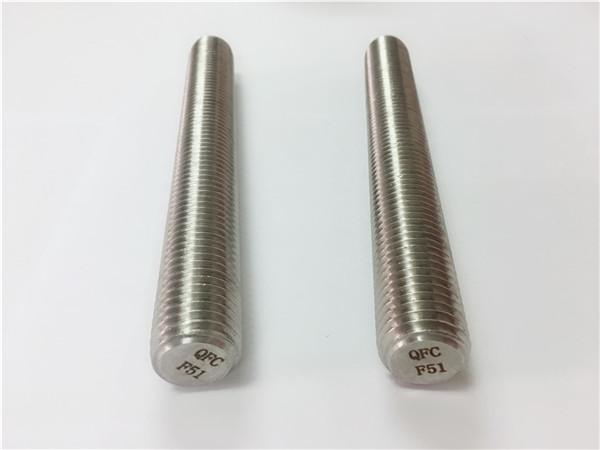 duplex2205 / s32205 pričvršćivači od nehrđajućeg čelika din975 / din976 šipke sa navojem f51