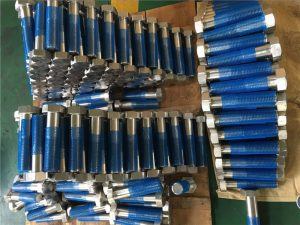 SUS 304L EN1.4306 SS šesterokutni vijci ISO4014 polovica